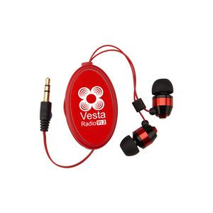 Heavy Metal Retractable Earbuds-Closeout
