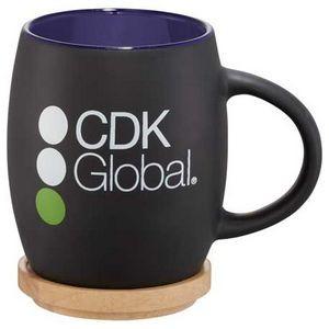 Hearth Ceramic Mug with Wood Lid/Coaster 15oz