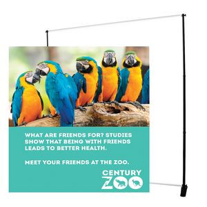 7.5' Deluxe Exhibitor Expanding Display Replacement Banner