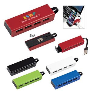 4-Port Traveler USB Hub With Phone Stand