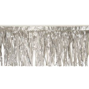 """Victory Corps Embossed Silver & Standard White Fringe (15"""")"""