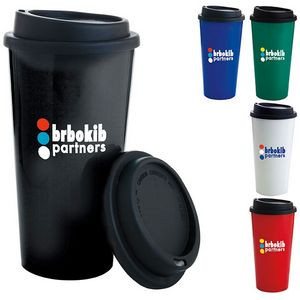 17 Oz. BIC Graphic® Double Wall PP Cup w/Black Lid