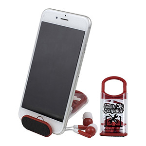 """""""ExCell"""" Ear Bud Set & Phone Stand (Overseas)"""