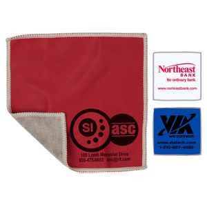 """6""""x 6"""" """"DoubleSide"""" 2-in-1 Spot Color Microfiber Cleaning Cloth & Towel (Overseas)"""