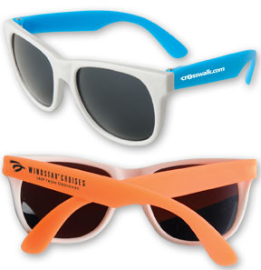 Neon Sunglasses w/White Frame
