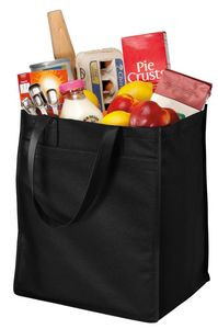 Port Authority® Extra Wide Polypropylene Grocery Tote