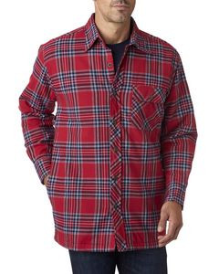 BACKPACKER Men's Flannel Shirt Jacket with Quilt Lining