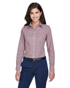 Devon and Jones Ladies' Crown Woven Collection? Gingham Check