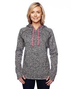 J AMERICA Ladies' Cosmic Contrast Fleece Hood