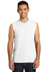 Port & Company® Men's Core Cotton Sleeveless T-Shirt