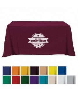 Flat Poly/Cotton 3-sided Table Cover - fits 6' standard table