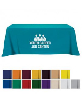 Flat Poly/Cotton 4-sided Table Cover - fits 8' standard table