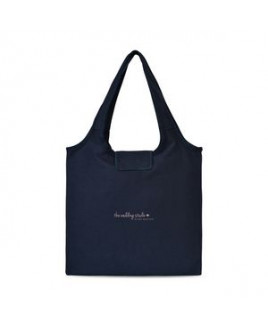 Willow Cotton Packable Tote - Navy