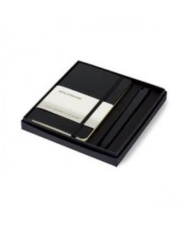 Moleskine® Pocket Notebook and GO Pen Gift Set - Black