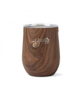 Corkcicle® Stemless Wine Cup - 12 Oz. - Walnut