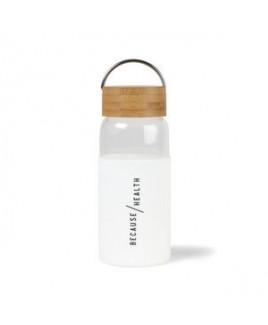 Tahiti Bamboo Glass Bottle - 18 Oz. - White