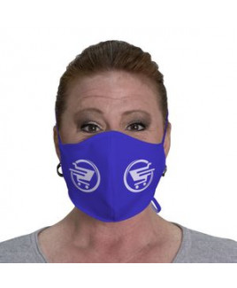 Imprinted Face Cover with fabric ties (Pack of 12)