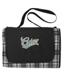 Extra Large Plaid Picnic Blanket Tote