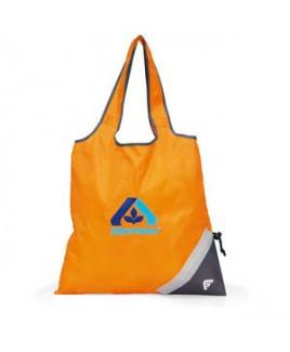 Latitudes Foldaway Shopper - Tangerine Orange