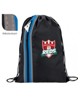 Good Value® Vertical Zippered Drawstring Backpack