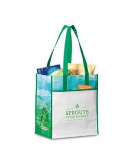 Vita Laminated Recycled Shopper Green