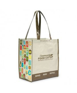 Laminated 100% Recycled Shopper - Natural-Brown
