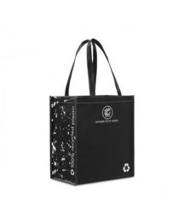Laminated 100% Recycled Shopper - Black