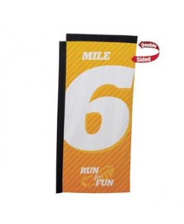 7' Premium Rectangle Sail Sign Flag, 2-Sided