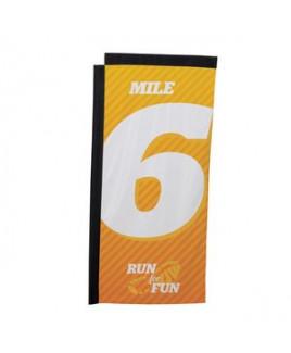7' Premium Rectangle Sail Sign Flag, 1-Sided