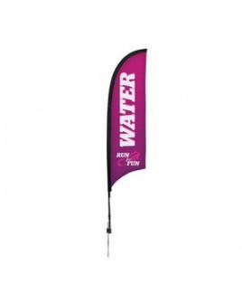 7' Premium Razor Sail Sign, 1-Sided, Ground Spike