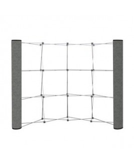 Curved Show 'N Rise Floor Display End Panel (Fabric)