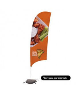 10.5' Value Razor Sail Sign - 2-Sided with Cross Base