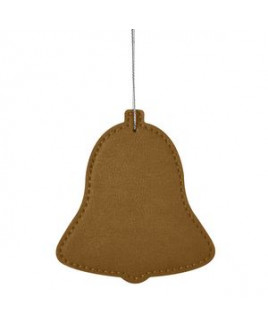 Leatherette Ornament - Bell