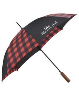 """46"""" Auto Open Buffalo Plaid Fashion Umbrella"""