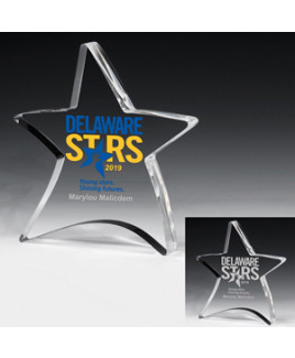 """Laser Engraved Acrylic Moving Star Paperweight (4 1/2""""x 5"""")"""