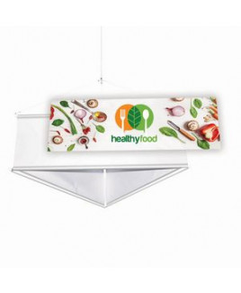 6' Three-Sided Hanging Banner Replacement Banners (Set of 3)