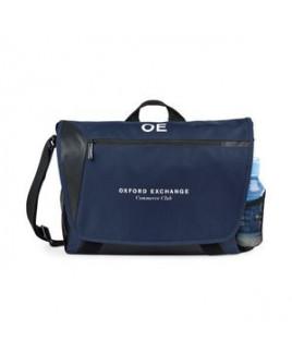 Sawyer Computer Messenger Bag - Navy Blue