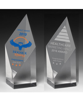 "Laser Engraved Acrylic Diamond Obelisk Award (5 3/4""x 2""x 2"")"