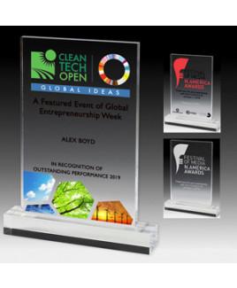 """Laser Engraved Elegant Rectangle Acrylic Award (5""""x 6 1/2""""x 3/8"""")"""