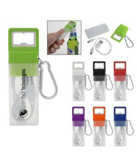 3-In-1 Ensemble Charging Cable Set With Bottle Opener