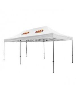 Premium Aluminum 20' Tent Kit (Imprinted, 2 Locations)