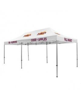 Premium Aluminum 20' Tent Kit (Imprinted, 9 Locations)