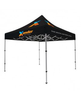 Compact 10' Tent Kit (Full-Color Imprint, 4 Locations)