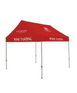 10' Premium Gable Tent Kit 5 Location Full-Color Imprint