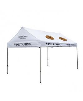 10' x 15' Premium Gable Tent Kit - 6 Location Imprint