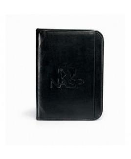 Vintage Leather Padfolio - Black