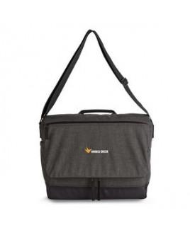Heritage Supply Tanner Computer Messenger Bag - Charcoal Heather-Black