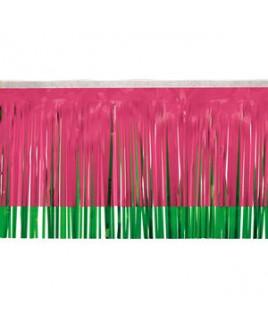 "Victory Corps Standard Cerise & Grass Green Fringe (15"")"
