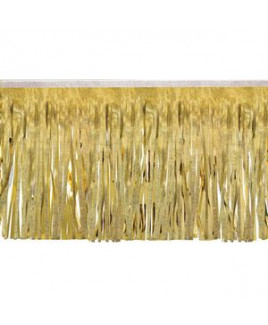 """Victory Corps Embossed Gold & Metallic Gold Fringe (15"""")"""