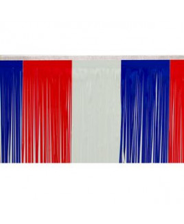 """Victory Corps Color Block Red/White/Blue Fringe (15"""")"""